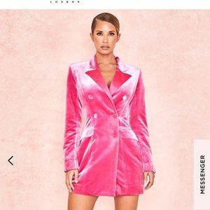 House of CB Blazer Dress (pink)